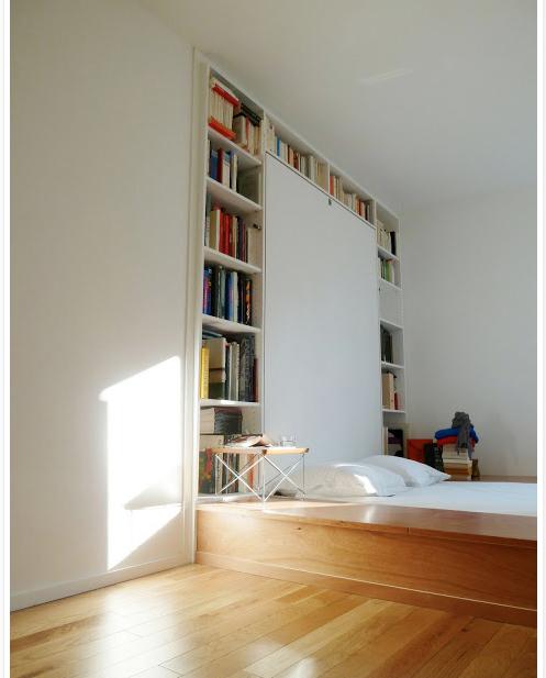 Bibliothèque lit